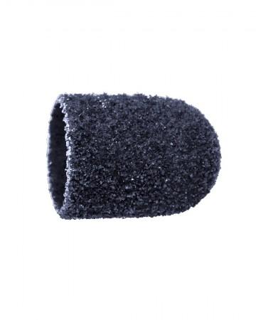 Vienkartiniai pedikiūro antgaliai, korundas-juodas, grubus 10 mm, 10 vnt.