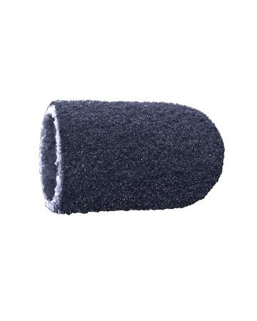 Vienkartiniai pedikiūro antgaliai, korundas-juodas, švelnus 7 mm, 10 vnt.