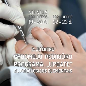 """Gydomojo pedikiūro programa """"UPDATE"""" su podologijos elementais (2-jų dienų)"""