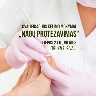 """Kvalifikacijos kėlimo mokymai """"Nagų protezavimas"""""""